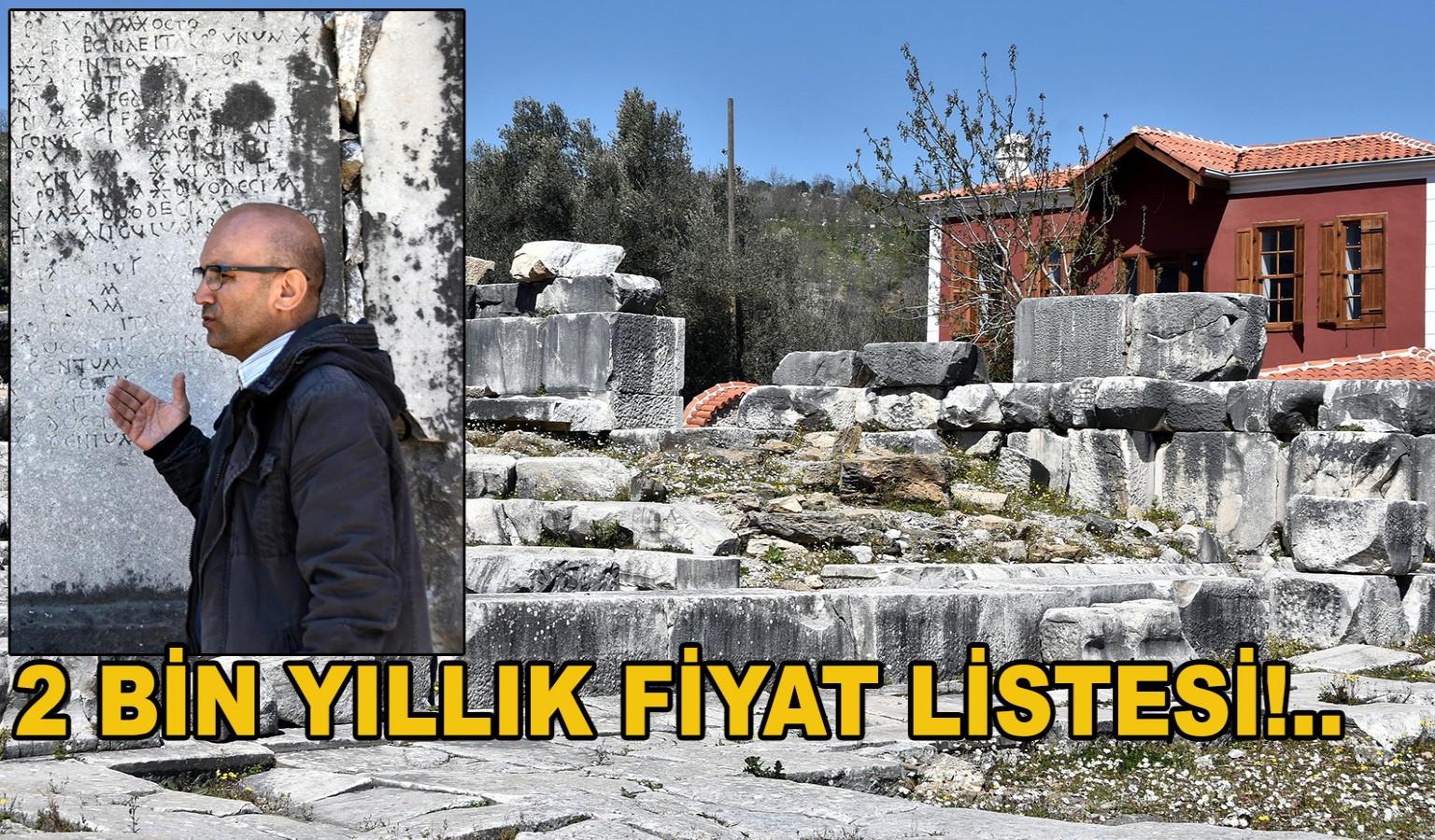 2 BİN YILLIK FİYAT LİSTESİ!..