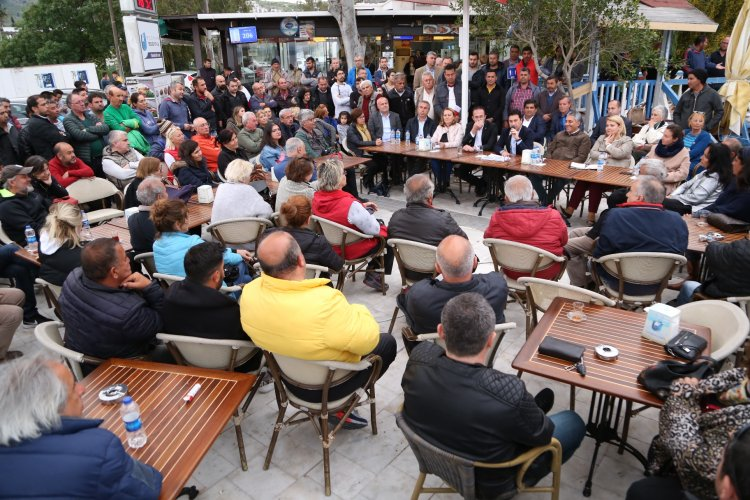 Başkan Aras, Türkbükü Sakinleriyle Buluştu
