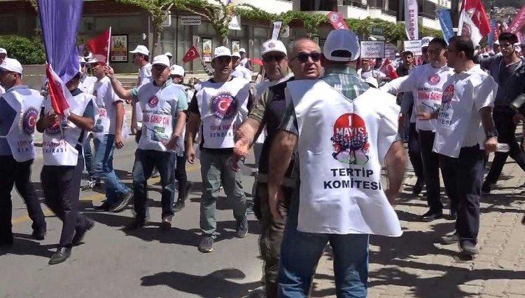 Muğla'da 1 Mayıs Yürüyüşü...