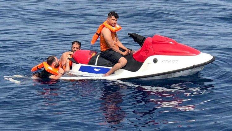Jet-ski İle Kaçmak İsterken Yakalandılar!