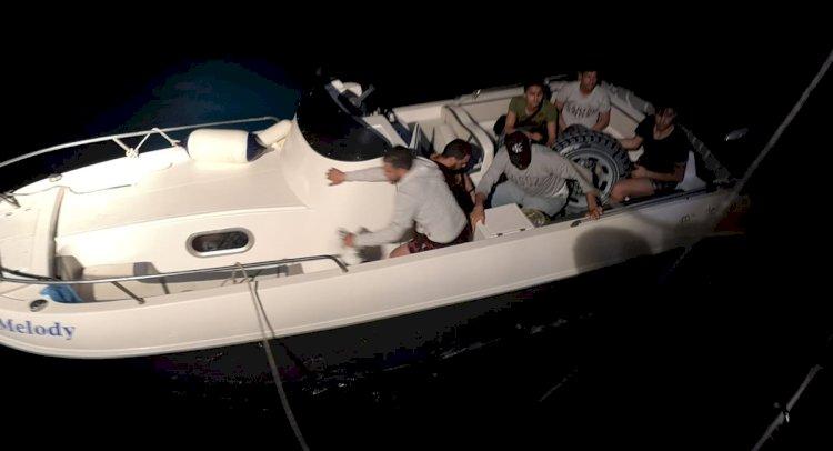 Sürat Teknesi İle Kaçıyorlardı