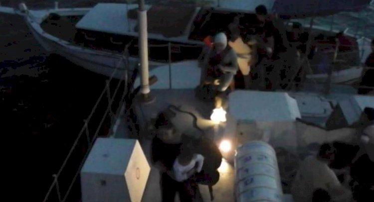Ahşap Teknede 34 Kaçak!