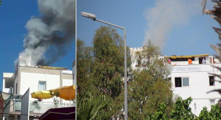 Otelde Yangın Paniği!..