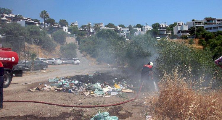Çöplüğe Çevrilen Alanda Yangın!..