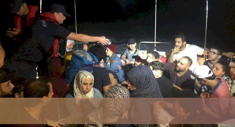 Bodrum Açıklarında 60 Kaçak Göçmen