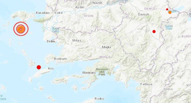 Ege Denizi'nde 4.4 Büyüklüğünde Deprem!