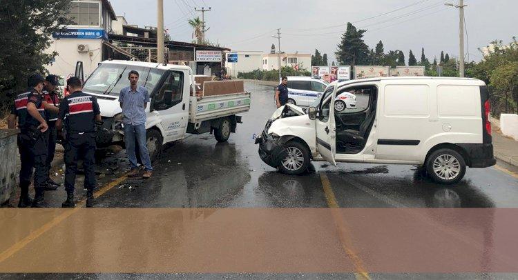 Turgutreis'te Yağış Kaza Getirdi