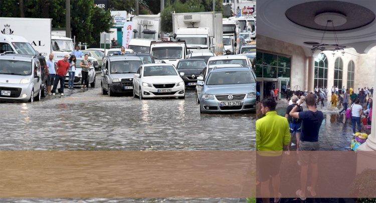 Yağış Bodrum'u Yine Felç Etti!