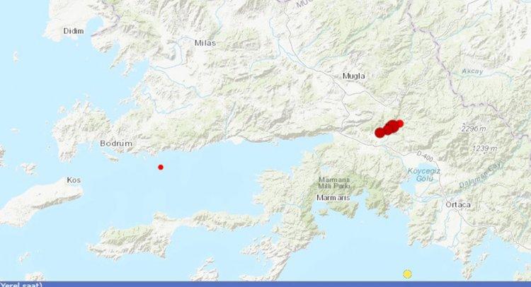 Köyceğiz'de Korkutan Üç Deprem!