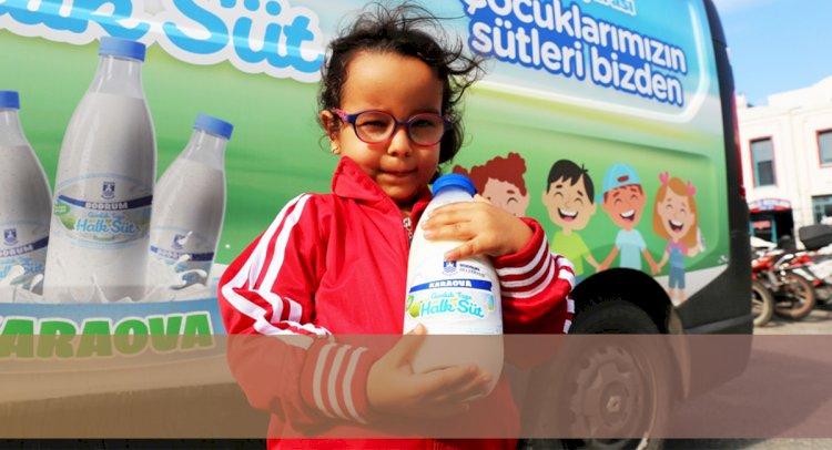 Ücretsiz Süt Dağıtımı Başladı