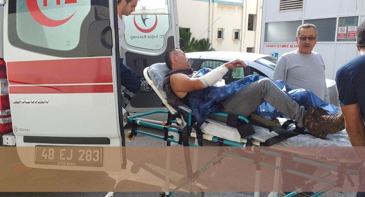 Kayalıklara Düşen İşçi Yaralandı!