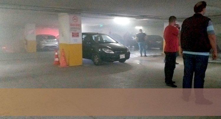 Otoparkta Yangın Paniği!..