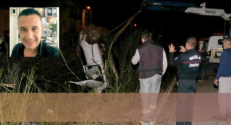 Su Kanalına Düşen Otomobilin Sürücüsü Öldü!