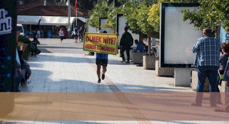 Maratonda Termik Santral Protestosu