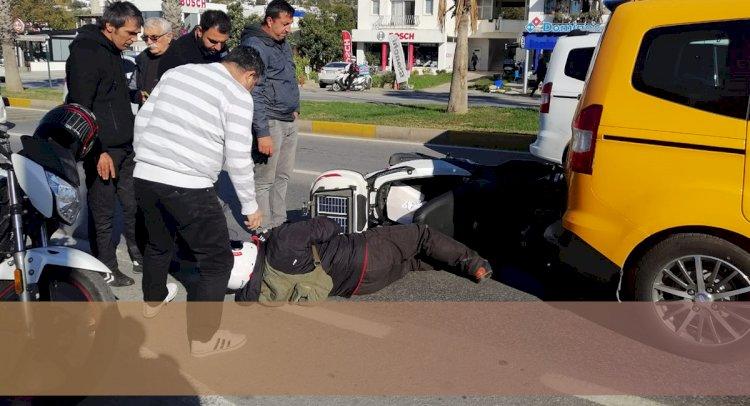 Motosiklet Kazasında Yaralandı!