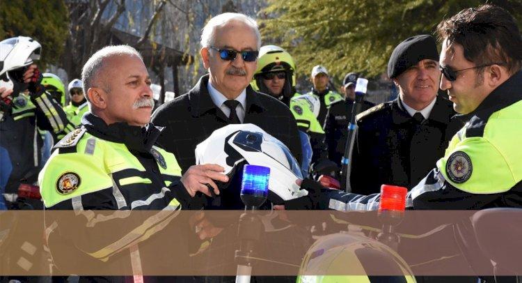 Dilberoğlu, Motosikletle Trafik Denetimi Yaptı