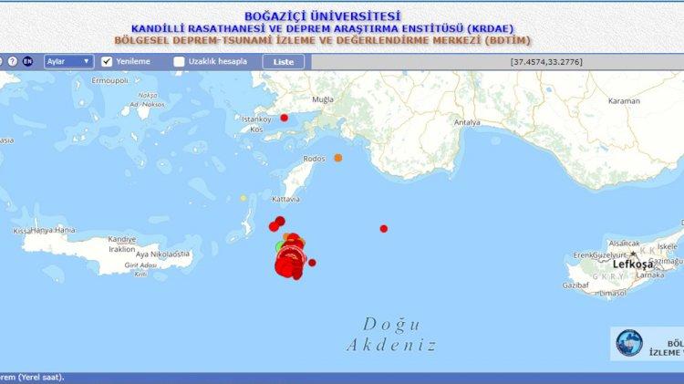 Helen Yayı'nda 4'ün Üzerinde 5 Deprem!