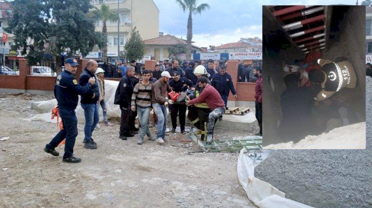 Kanalizasyon Çukuruna Düşen İşçi Yaralandı!