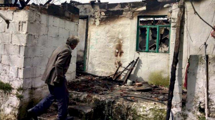 Evi Yanan Kore Gazisi Yaralandı!