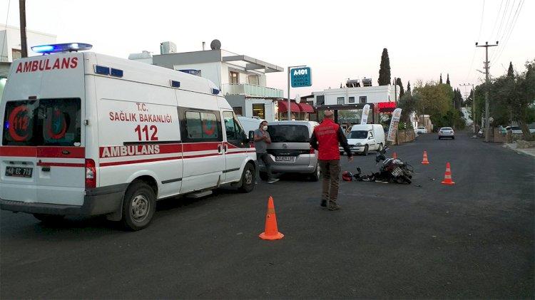 Motosiklet Sürücüsü Yaralandı!..