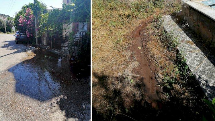 Patlayan Su Hattı Kanalizasyonu Taşırdı