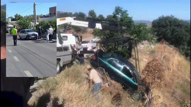 Yaralıyı Taşıyan Araç da Kaza Yaptı!