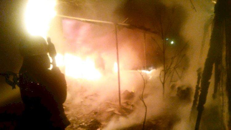 İşyeri Yangını Panik Yarattı