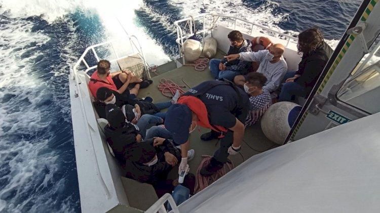 10 Kaçak Göçmen Kurtarıldı...