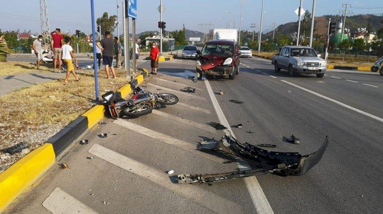 Motosikletin Sürücüsü Yaşamını Kaybetti!