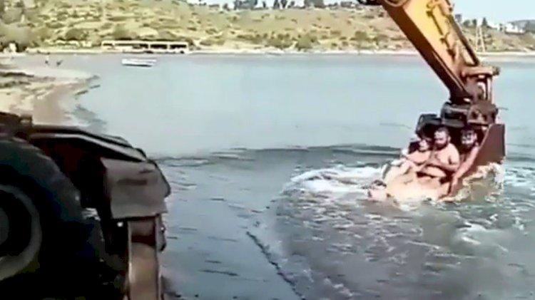Tehlikeli Deniz Keyfi Viral Oldu