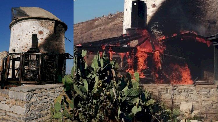 Tarihi Değirmende Yangın Çıktı!..