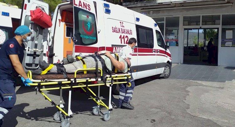 Merdivenden Düşen İşçi Yaralandı!