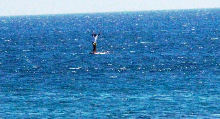 Bodrum'da Sörfçünün Zor Anları!