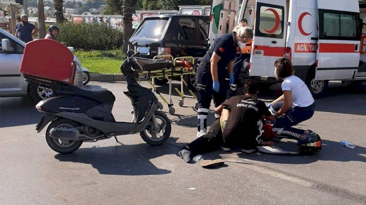 2 Kazada, 2 Motosiklet Sürücüsü Yaralı