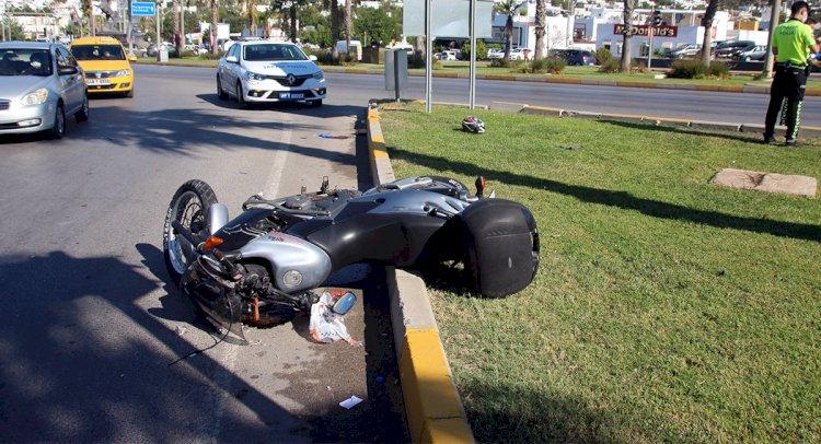 Motosiklet Sürücüsü Ağır Yaralı!