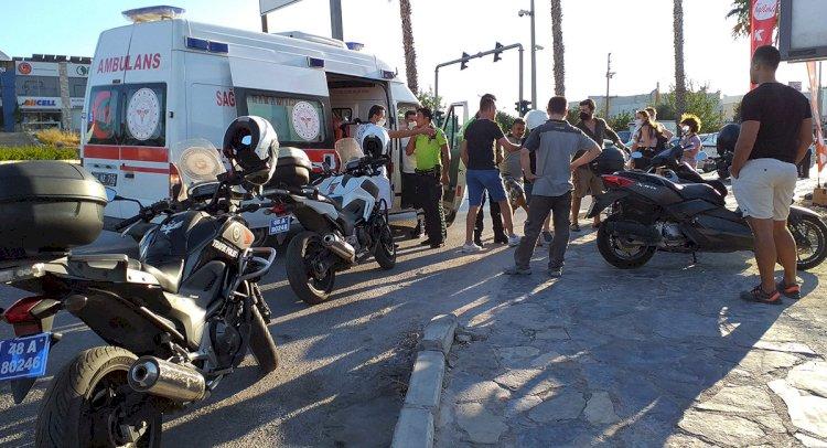 2 Motosiklet Çarpıştı; 2 Yaralı!