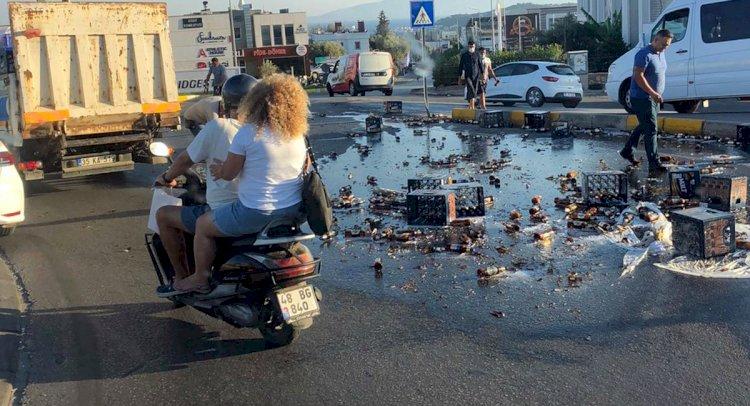Biraları Kavşağa Döktü!..