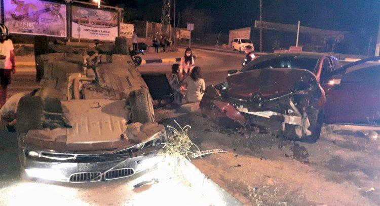 Dereköy Kavşağı'nda Kaza; 3 Yaralı!