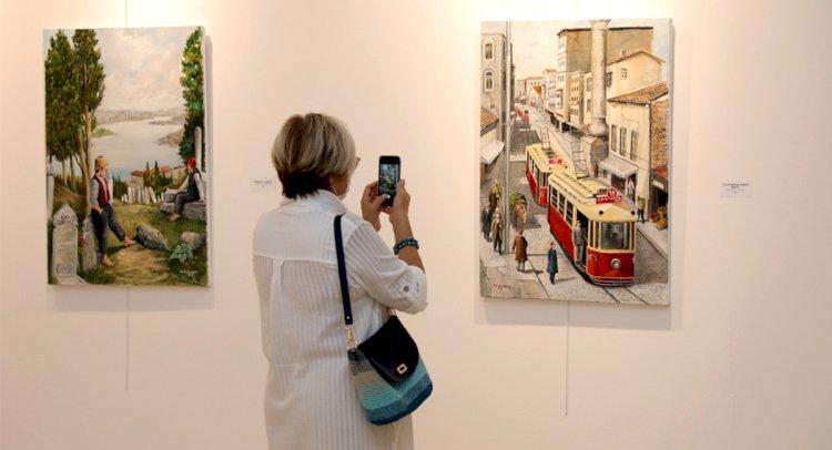 Faruk Günayer'in Resim Sergisi Açıldı