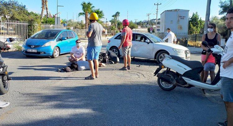 Severcan Caddesi'nde Kaza; 1 Yaralı!