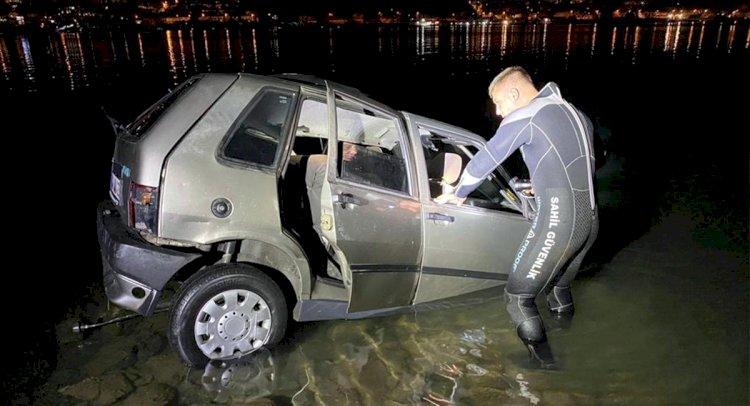 Otomobil Denize Devrildi!