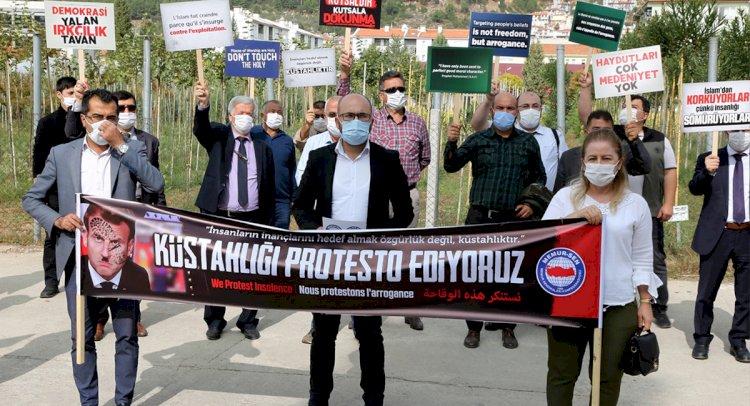 Muğla'da Küstah Macron'a Protesto