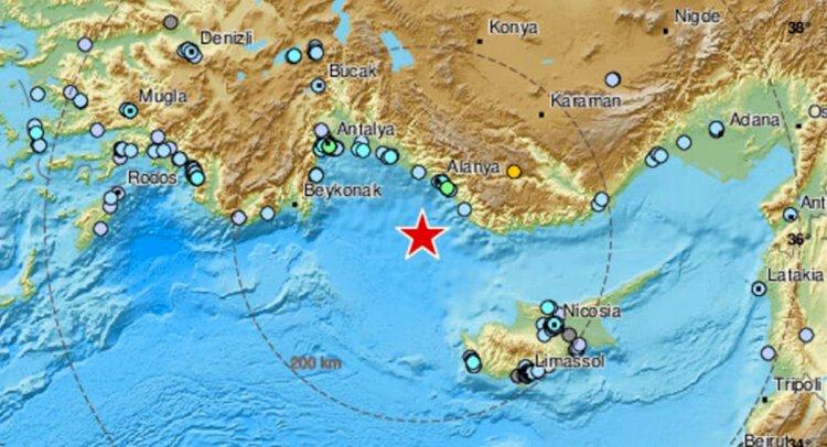 Antalya Açıklarında 5,2'lik Deprem!