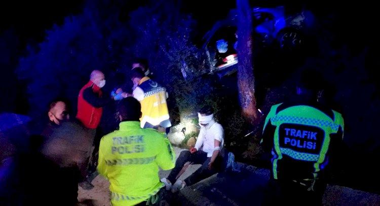 Polisten Kaçarken Kaza Yaptılar!..