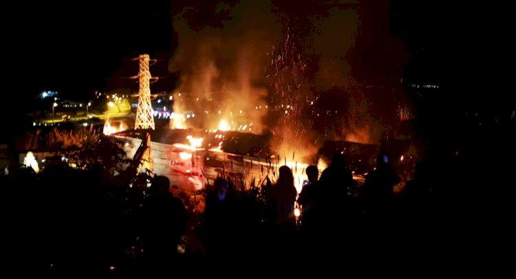 Ortakent'te Bir İşyerinde Büyük Yangın!
