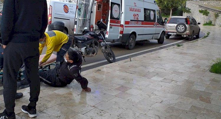 Kayganlaşan Yolda Düşüp Yaralandı!