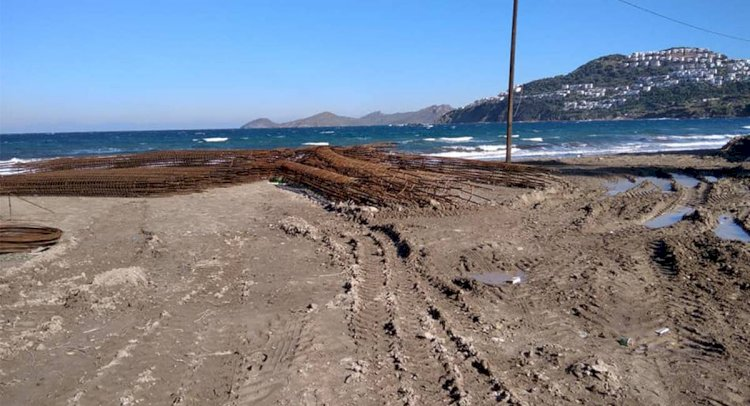Plaja Yapılan Terfi İstasyonuna Tepki!