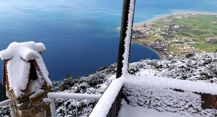 Bodrum ve Milas'tan Kar Manzaraları