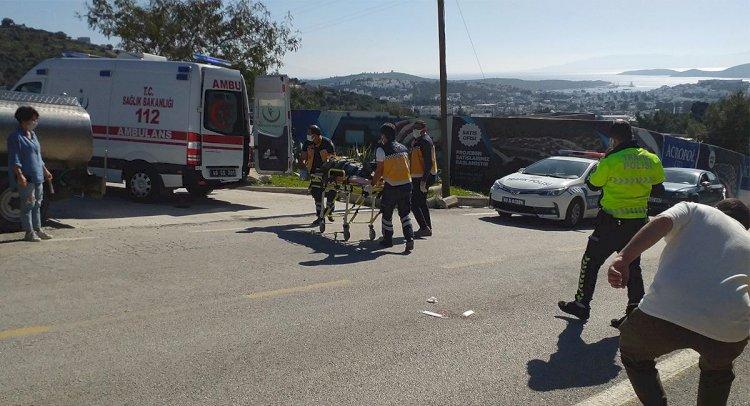 Motosikletten Düşerek Yaralandı
