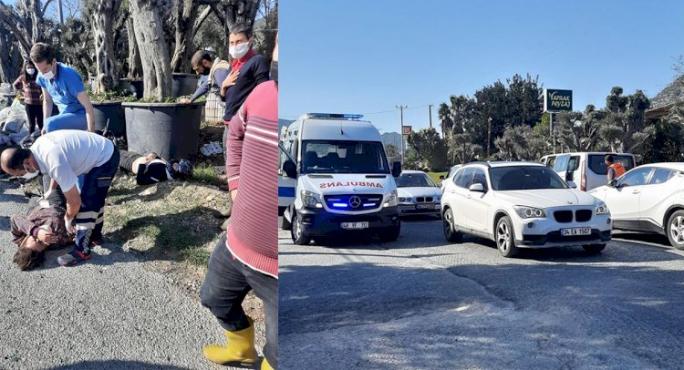 Minibüs Motosikletle Çarpıştı; 2 Yaralı